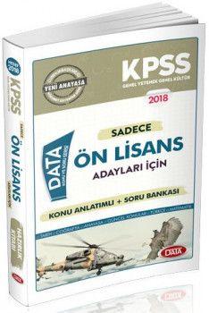 Data Yayınları 2018 KPSS Ön Lisans Adaylar İçin Konu Anlatımlı Soru Bankası