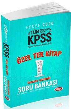 Data Yayınları 2020 KPSS Genel Yetenek Genel Kültür Özel Tek Kitap Tamamı Çözümlü Soru Bankası