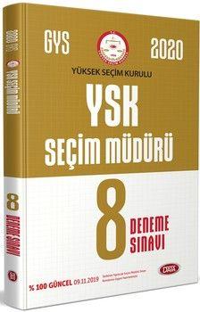 Data Yayınları 2020 YSK GYS Seçim Müdürü 8 Deneme Sınavı
