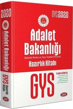 Data Yayınları 2020 GYS Adalet Bakanlığı Hazırlık Kitabı