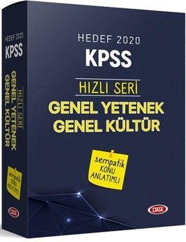 Data Yayınları 2020 KPSS Genel Yetenek Genel Kültür Hızlı Seri Sempatik Konu Anlatımlı Set