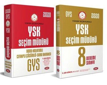 Data Yayınları 2020 Yüksek Seçim Kurulu YSK Seçim Müdürü Sınav Seti GYS
