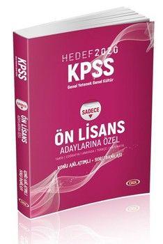 Data Yayınları 2020 KPSS GK GY Ön Lisans  Adaylarına Özel Konu Anlatımlı Soru Bankası