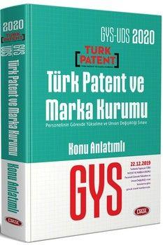 Data Yayınları 2020 GYS UDS Türk Patent ve Marka Kurumu Konu Anlatımlı