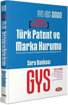 Data Yayınları 2020 GYS UDS Türk Patent ve Marka Kurumu Soru Bankası