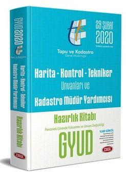 Data Yayınları 2020 Harita Kontrol Tekniker Unvanları ve Kadastro Müdür Yardımcısı Hazırlık Kitabı