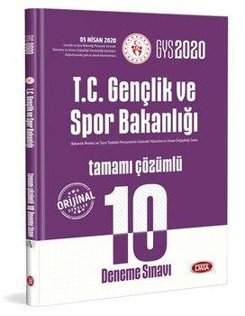 Data Yayınları 2020 GYS T.C. Gençlik ve Spor Bakanlığı 10 Deneme Sınavı