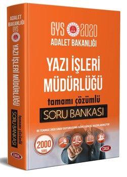 Data Yayınları 2020 GYS Adalet Bakanlığı Yazı İşleri Müdürlüğü Tamamı Çözümlü Soru Bankası