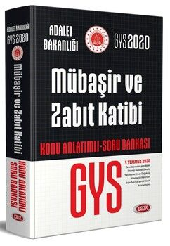 Data Yayınları 2020 GYS Mübaşir ve Zabıt Katibi Konu Anlatımlı Soru Bankası