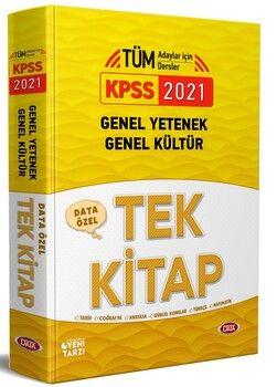 Data Yayınları 2021 KPSS Genel Yetenek Genel Kültür Özel Tek Kitap