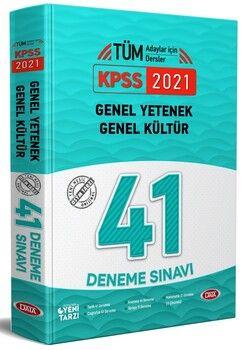 Data Yayınları 2021 KPSS Genel Yetenek Genel Kültür 41 Deneme