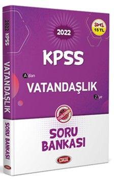 Data Yayınları 2022 KPSS Vatandaşlık Soru Bankası
