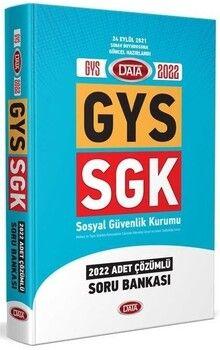 Data Yayınları 2022 GYS SGK Soru Bankası