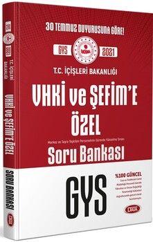 Data Yayınları İçişleri Bakanlığı VHKİ ve Şefim e Özel GYS Soru Bankası