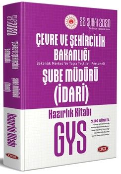 Data Yayınları GYS Çevre ve Şehircilik Bakanlığı İdari Şube Müdürü Hazırlık Kitabı