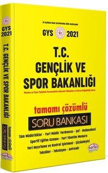 Data Yayınları T.C. Gençlik ve Spor Bakanlığı Tamamı Çözümlü Soru Bankası