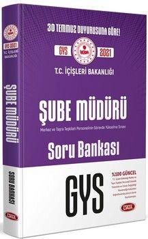 Data YayınlarıT.C. İçişleri Bakanlığı Şube Müdürü GYS Soru Bankası
