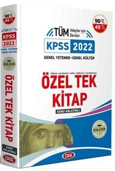 Data Yayınları2022 KPSS Genel Yetenek Genel Kültür Özel Tek Kitap