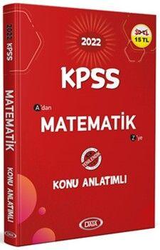 Data Yayınları2022 KPSS Matematik Konu Anlatımlı