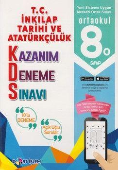 Dört İşlem Yayınları 8. Sınıf T.C. İnkılap Tarihi ve Atatürkçülük Kazanım 10 lu Deneme Sınavı