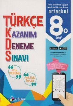 Dört İşlem Yayınları 8. Sınıf Türkçe Kazanım 10 lu Deneme Sınavı