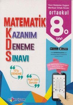 Dört İşlem Yayınları 8. Sınıf Matematik Kazanım 10 lu Deneme Sınavı