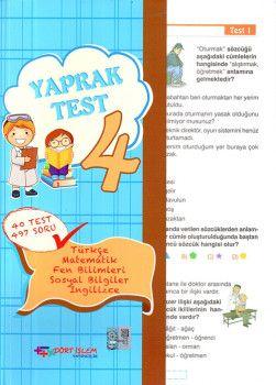 Dört İşlem Yayınları 4. Sınıf Tüm Dersler Yaprak Test