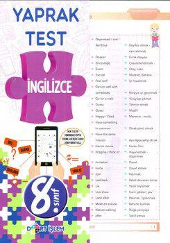 Dört İşlem Yayınları 8. Sınıf İngilizce Yaprak Test