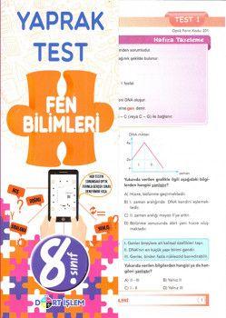 Dört İşlem Yayınları 8. Sınıf Fen Bilimleri Yaprak Test