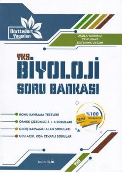 Dörttedört Yayınları YKS 2. Oturum Biyoloji Soru Bankası