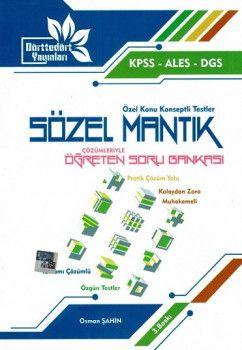 Dörttedört Yayınları KPSS ALES DGS Sözel Mantık Çözümleriyle Öğreten Soru Bankası