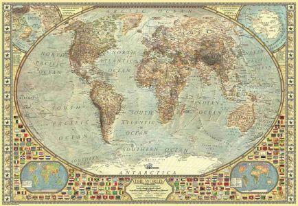 Dünya Haritası World Map 2000 Parça Yapboz