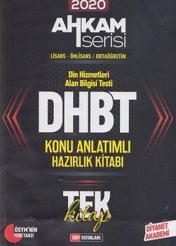 DDY Yayınları 2020 DHBT Tüm Adaylar Konu Anlatımlı Hazırlık Kitabı Ahkam Serisi