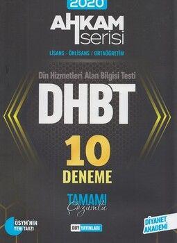 DDY Yayınları 2020 DHBT Tüm Adaylar Tamamı Çözümlü 10 Deneme Ahkam Serisi