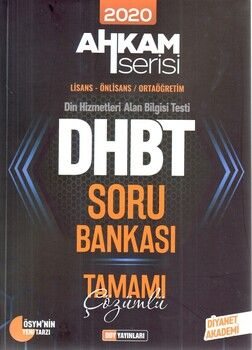 DDY Yayınları DHBT Lisans Önlisans Ortaöğretim Tamamı Çözümlü Soru Bankası