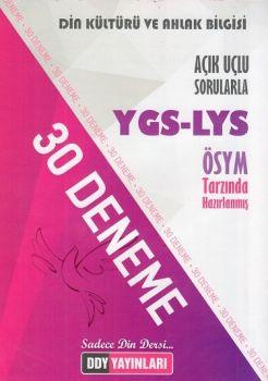 DDY Yayınları YGS LYS Din Kültürü ve Ahlak Bilgisi Açık Uçlu Sorularla 30 Deneme