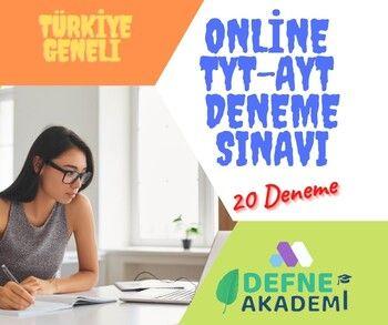 Defne Akademi Türkiye Geneli Online TYT AYT Deneme Paketi