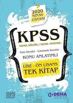 Deha Yayınları KPSS 2020 Lise Ön Lisans GYGK Sınav Ustası Konu Anlatımlı Soru Bankası