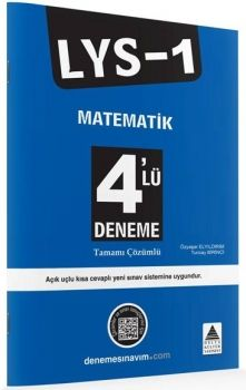 Delta Kültür Yayınları LYS 1 Matematik Tamamı Çözümlü 4 Deneme