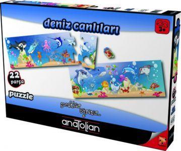 Deniz Canlıları 22 Parça Puzzle - Yapboz