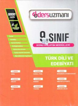 Ders Uzmanı 9. Sınıf Türk Dili ve Edebiyatı Konu Anlatım Modülleri