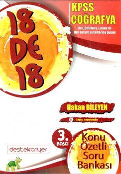 Destek Kariyer Yayınları KPSS Coğrafya Konu Özetli Soru Bankası