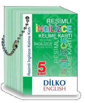 Dilko Yayınları 5. Sınıf Resimli İngilizce Kelime Kartı