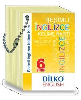 Dilko Yayınları 6. Sınıf Resimli İngilizce Kelime Kartı
