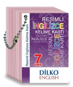 Dilko Yayınları 7. Sınıf Resimli İngilizce Kelime Kartı