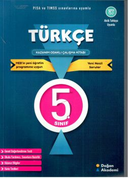 Doğan Akademi 5. Sınıf Türkçe Kazanım Odaklı Çalışma Kitabı