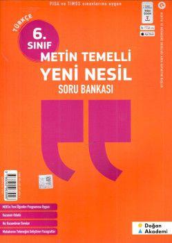 Doğan Akademi 6. Sınıf Türkçe Metin Temelli Yeni Nesil Soru Bankası