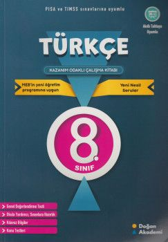 Doğan Akademi 8. Sınıf Türkçe Kazanım Odaklı Çalışma Kitabı