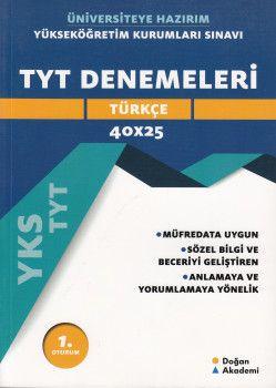 Doğan Akademi TYT Türkçe Denemeleri 40 x 25