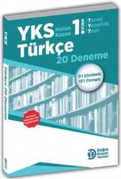 Doğru Orantı Yayınları YKS 1. Oturum TYT Türkçe 20 Deneme